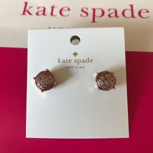 Kate Spade rose gold glitter earrings
